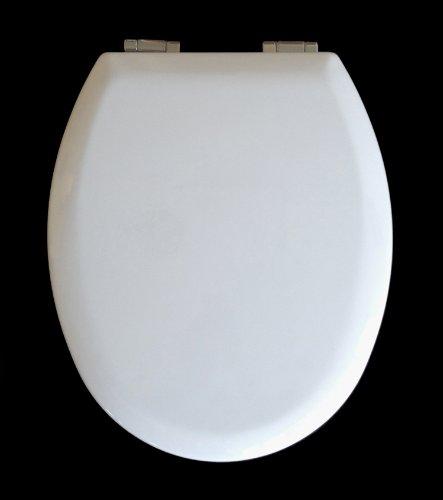 ADOB WC Sitz Klobrille Holzkern mit Absenkautomatik, das Original, weiß, 38002