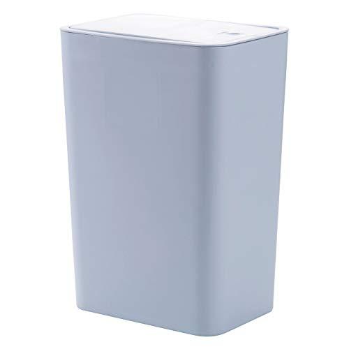 Dreamy Life Slim rechteckiger Mülleimer-Mülleimer, Push-Top-Deckel-Mülltonne für Badezimmer, Küchen, Home Offices, Schlafsäle, groß (Office-kuchen-deckel)