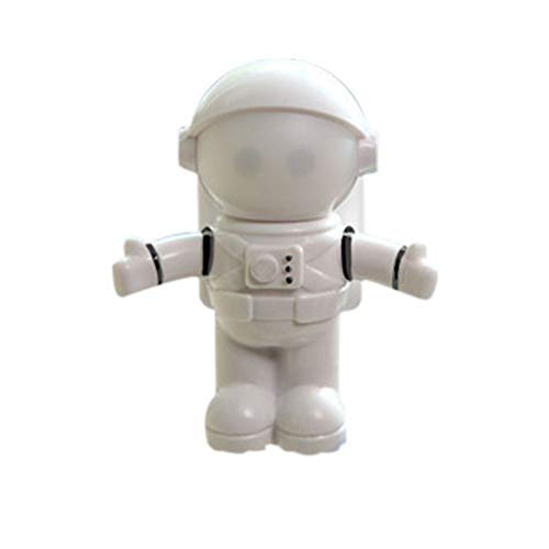 YIKAE Spaceman Night Light USB, Tastiera del Computer Portatile LED Light Eye, Adatto per Ufficio, la Lettura Famiglia, Inviare Fidanzato, Amico, Regalo di Nat