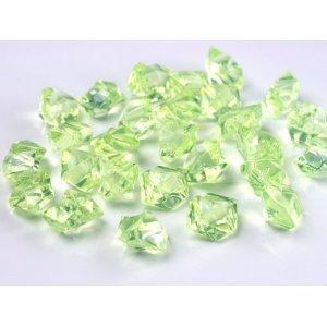 BUDILA® Dekosteine Dekoeis grün Eis Optik 100 Stück Acryl Tischdekoration für Hochzeit