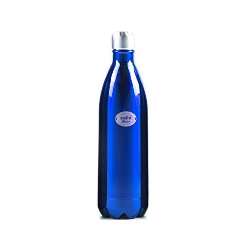 Cello Swift Stainless Steel Bottle, 1 Litre, Blue