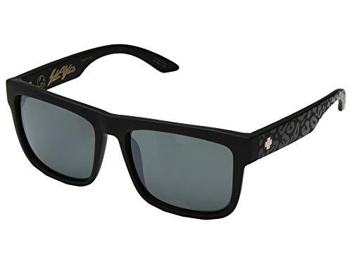 Spy Optic Discord Polarized Flat Sunglasses (SLAYco Matte Black Leopard - Happy Gray Green w/Silver Flash)