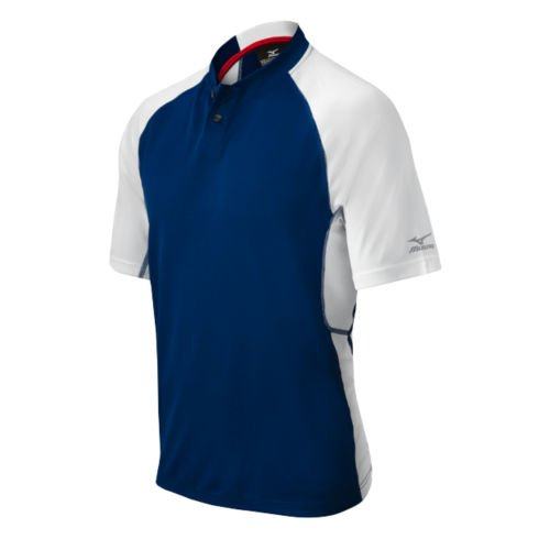 Mizuno Pro 2Tasten Jersey, Herren, Marineblau/weiß