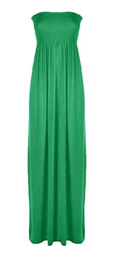 Generic Damen Kleid, Einfarbig * One size Jadegrün