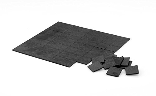 Magnet-Plättchen selbstklebend - extra haftstark - 140 Stück, 20 x 20 mm, Stärke 1,4 mm, DIN A5 Bogen, selbstklebende Magnetplättchen. Einfach alles super easy magnetisieren!