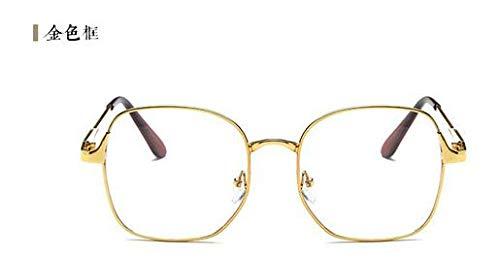 FANGUGF Flache Gläser Brillengestell Damen Herrenbrillen Myopie Brillen Flachspiegelglas