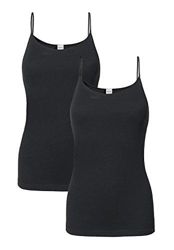 hessnatur Damen-Wäsche Top PureDAILY im 2er-Set aus reiner Bio-Baumwolle schwarz, weiß, blau, rosa 34, 36, 38, 40, 42, 44, 46, 48 (Damen-bio-baumwoll-jersey)