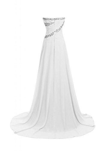 Sunvary elegante, della linea Sweetheart A-Line Vestito lungo da sera, abiti Pageant Bianco