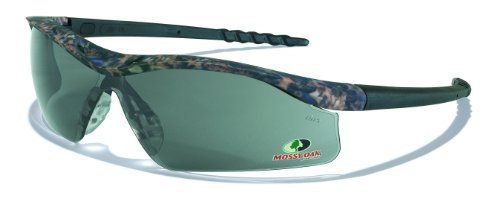 MCR Safety MODL112 Mossy Oak Single Lens Glasses with Dallas Camo Frame and Gray Lens by MCR Safety