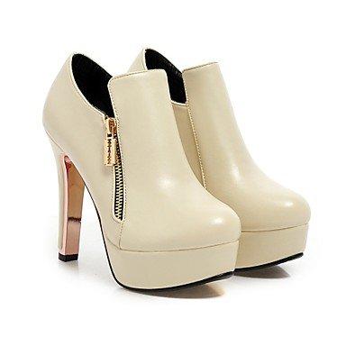 WSX&PLM Da donnaFormale Casual-Stivali-A stiletto-Finta pelle-Nero Marrone Rosso Beige beige