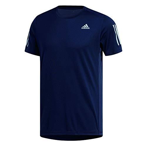 adidas Own The Run tee Camiseta, Hombre, Azul (Legend Ink/Reflective Silver), L