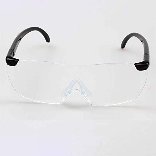 Peanutaod Big Vision 1.6X Lupenlesebrille Flammenlose, leichte Brillenlupe 250-Grad-Vision-Linse für ältere Menschen
