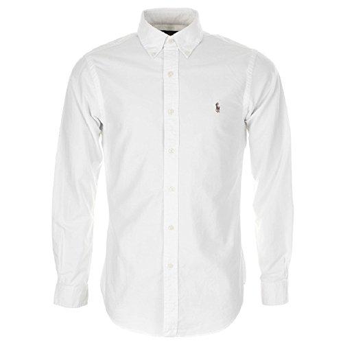 Ralph lauren camicia casual - basic - con bottoni - uomo white s