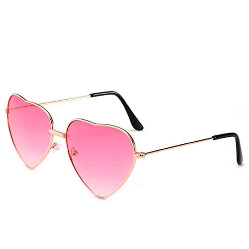 SPFAZJ Sonnenbrillen Neue Retro Metall Love Heart Shaped Sonnenbrille Herz Männer und Frauen Sonnenbrille