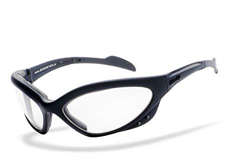 Helly® - No.1 Bikereyes® | H-FLEX®- unzerbrechlich, beschlagfrei, HLT® Kunststoff-Sicherheitsglas nach DIN EN 166 | Bikerbrille, Motorradbrille, Sportbrille | Brille: speed king 2