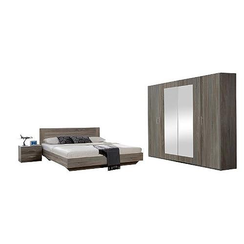 Wimex 749323 Schlafzimmer Set Bestehend Aus Bett 180 X 200 Cm,  Nachtschrankpaar Je Zwei Schubkästen Und Kleiderschrank 4 Türig 225 X 210 X  58 Cm. Von Wimex
