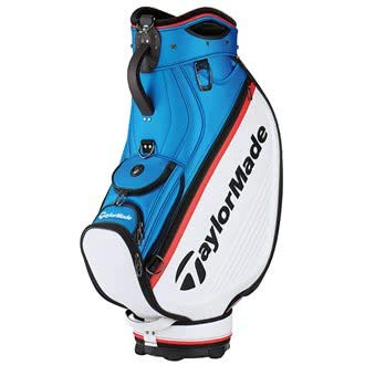 TaylorMade Golf 2018 Tour Staff Cart Bag Mens Trolley 6 Way Velour Top White/Blue/Red (Golf Bag-tour)