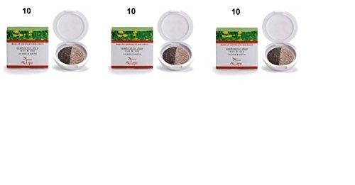 lepo-3-confezioni-di-ombretto-duo-wet-dry-bio-ecocert-n10-beige-e-marrone-senza-parabeni-e-senza-pro