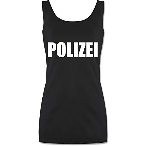 Kostüm Frauen Polizei - Shirtracer Karneval & Fasching - Polizei Karneval Kostüm - S - Schwarz - P72 - Tanktop für Damen und Frauen Tops