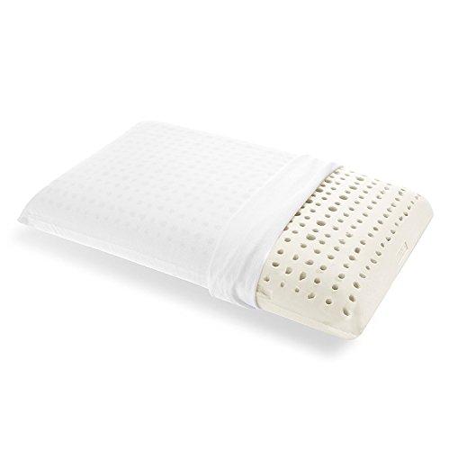 Goldflex - cuscino altezza maggiorata 17cm ergonomico lattice naturale, saponetta, foratura areazione, sostegno importante, traspirante, anallergico, antiacaro rivestimento cotone 100%