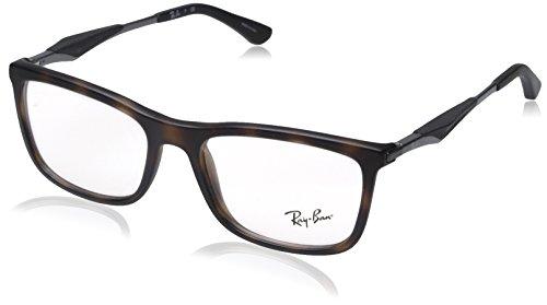 Ray Ban Kunststoff Brille RX 7029 5200 Größe 53 in der Farbe havanna braun matt