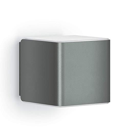 Verborgene Led (Steinel Wandleuchte L 840 iHF Cubo anthrazit, LED Außenleuchte, 160° Bewegungsmelder, vernetzbar, per App bedienbar, UV-beständiger Kunststoff, 9.5 W)