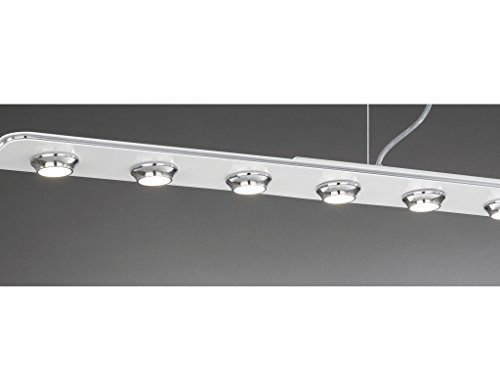 Lineare Aufhängung (LA LAMPADA - ELEGANTE LINEARE Aufhängung und Decke Lampe 6 Licht Chrom)