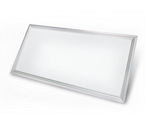 NRG Clever® PC36A, Platte LED 36 W - 300x600 mm., versenkten Blech 30x60 cm., quadratische Platte Energieeinsparung, Kalt Weiß, Ideal Innen- Bäder, Büros, Küchen (Low-profile-panel)