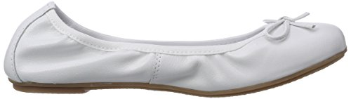 Marco Tozzi Cool Club 42403, Ballerines Bout Fermé Fille Blanc (White / 100)