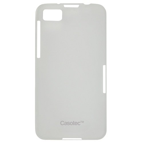 Casotec Frosted Soft TPU Back Case Cover for BlackBerry Z10 - Clear  available at amazon for Rs.119