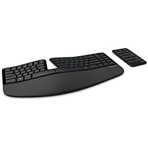 Microsoft Sculpt Ergonomic for Business - Teclado (RF inalámbrico, Oficina, QWERTY, Inglés, USB, Batería)