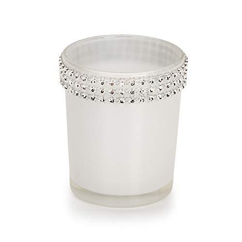 Darice Glas votives-white mit Strass Trim -