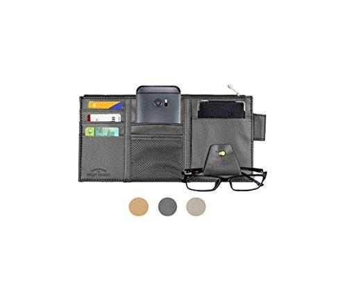 Itenqi PU-Leder Auto Sonnenblende Organizer CD / DVD-Speicher Sonnenschirm Hülse Brille Karten Halter für Auto Fahrzeug Truck SUV