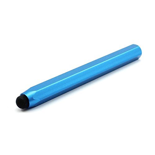 H&S Sechseck Aluminium Stylus Touch Pen Metall Stift für Tablet Smartphone Mid Blue Mid. Neu Stylus Touch Pen