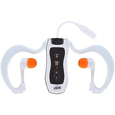 Vktech® 4GB impermeable reproductor de mp3bajo el agua para natación y buceo FM Radio Auriculares, color