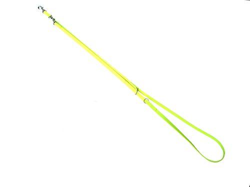 MJH 3fach verstellbare Führleine BioThane 2,30m/9mm neon gelb