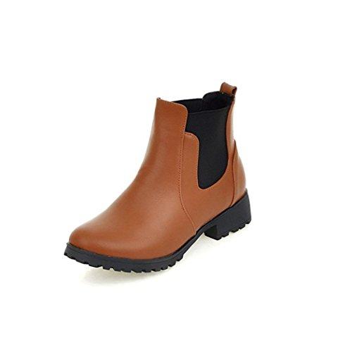 ZQ@QX L'automne et l'hiver épais à tête ronde avec, comme wild west boots Bottes femme nue étudiants Bottes courtes Bottes