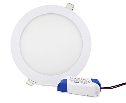 Glühlampen-schiene Leuchte (Jinda LED Einbau Lampe Ultra Flach Runde Deckenleuchte für Wohnzimmer bad Küche non-Dimmbar LED Deckenlampe (12W Weiß))