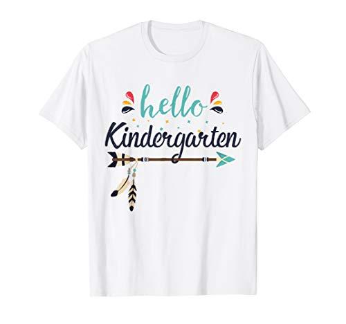 Zurück Kostüm Zu Schule - Hello Kindergarten Lehrer zurück zum ersten Schultag T-Shirt