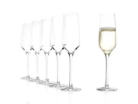 Stölzle Lausitz Verres à Champagne Experience 188ml, Lot de 6, comme soufflé, Passe au Lave-Vaisselle