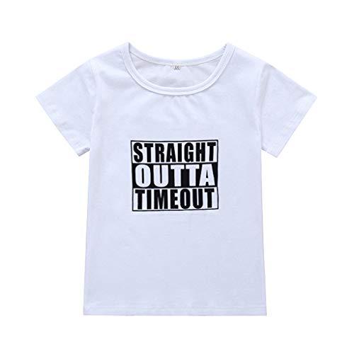 Julhold Kleinkind Baby Kinder Jungen Mädchen Einfach Brief Drucken T Freizeitoberteile T-Shirt Freizeitkleidung 0-4 Jahre