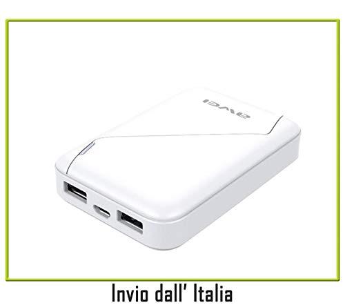 Power Bank SUPER COMPATTO 7800mAh Bianco compatibile con MOTOROLAMoto Maxx, Nexus 6, Moto G 2014, Moto X 2014, Moto E, Moto G LTE, Moto G, Moto X, RAZRi, Razr HD, Razr Maxx HD, Moto E4, Moto E4Plus