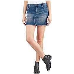 Le Temps des Cerises - Jupe Jeans Femme JFANVER - Bleu Denim, 25