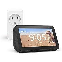 Echo Show 5 (Nero) +Amazon Smart Plug (presa intelligente con connettività Wi-Fi), compatibile con Alexa