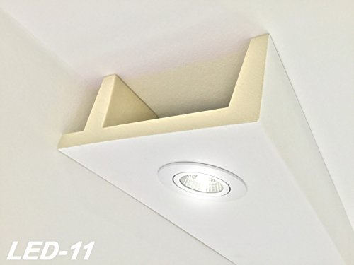 2 Meter PU Spots Kasten LED Leuchten Stuck Deckenprofil stoßfest 80x200 LED-11