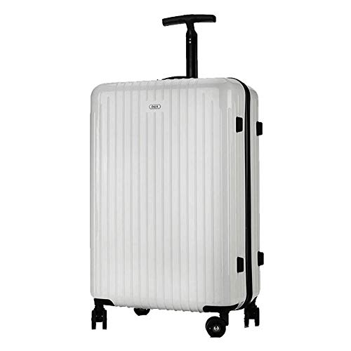 Trolley, 4 runde Hartschalenkoffer tragen Gepäck Hartschalenkoffer Reisetasche PC Passwortsperre Gepäck-White-26in