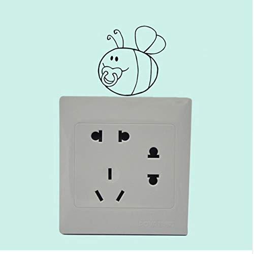 (WFYY Baby-Biene mit Schnullern interessanter Aufkleber dekorative Vinyl-Wandaufkleber für Kinderzimmer)