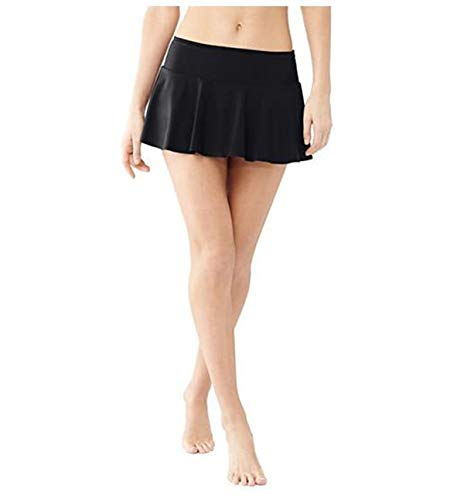 Elodiey Damen Badeshorts Bikini Rock Rock Strand Integrierter Hose Mit Business Hohe Taille Mini Bikinihosen Bottom Mit Short (Color : Schwarz, Size : 2XL) -