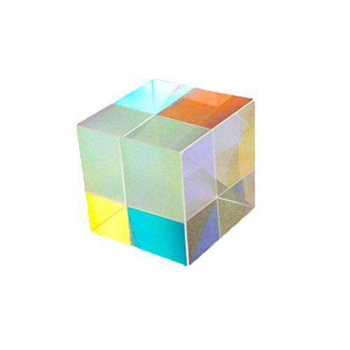 UKCOCO Prisma Würfel, Optischen Glas Prisma für Physik Lehre Dekoration 2,3 x 2,3 x 2,3 cm -