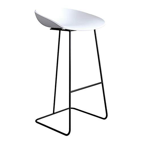 Barhocker Frühstück Küche Theke Bar Stuhl Fußstütze mit weißen gebogenen Sitz Esszimmerstuhl for Küche |Pub |Café Hochhocker Metallbein max.Laden Sie 200 kg